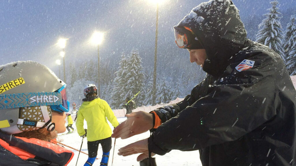 Brandon Dyksterhouse Coaching Alpine Skiing